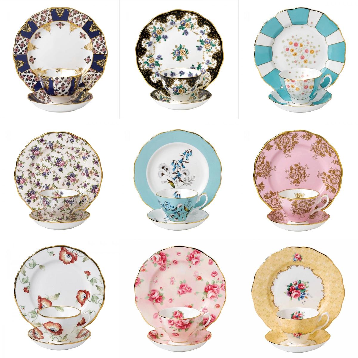 Royal Albert皇家阿尔伯特百年系列1900-1990骨瓷咖啡杯碟三件套