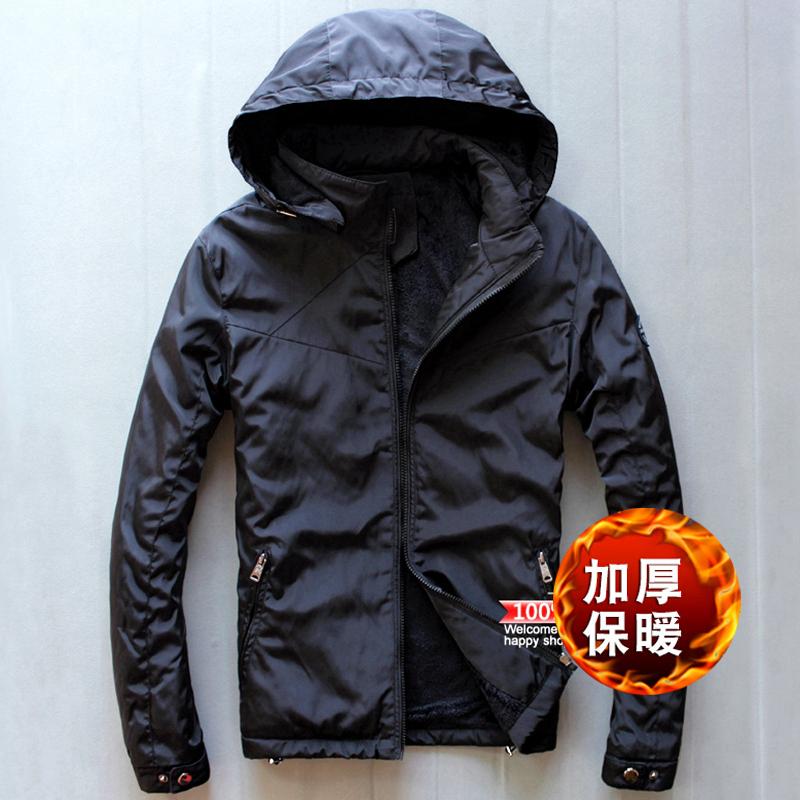 冬季男士棉夹克加绒加厚防风外套 运动夹克外套保暖棉衣男装大码