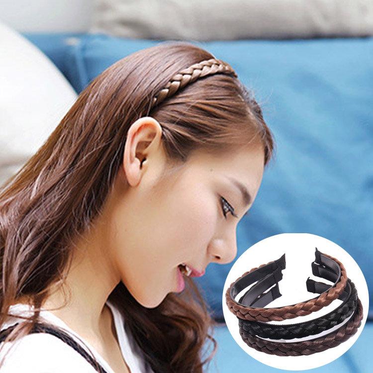 Twist braid headband hair accessories Korean womens versatile simple toothed non slip wig braid Headband