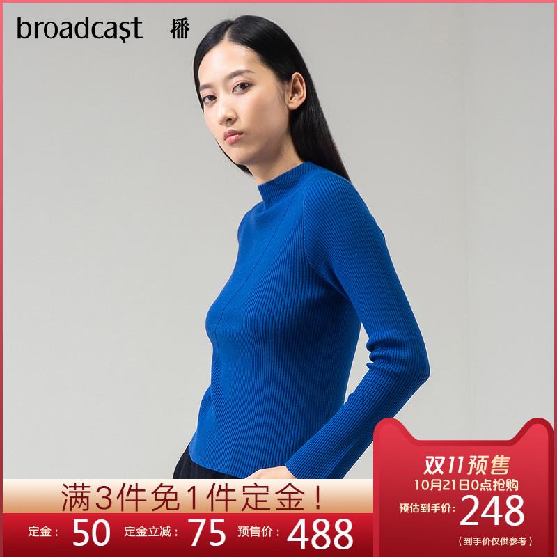 播2019秋新品100%羊毛衫小高领套头打底针织衫女BDL9S588 thumbnail
