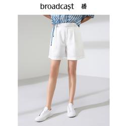 播2019夏季新品明线装饰工装感休闲阔腿短裤DDM2KD069 森林派对夜