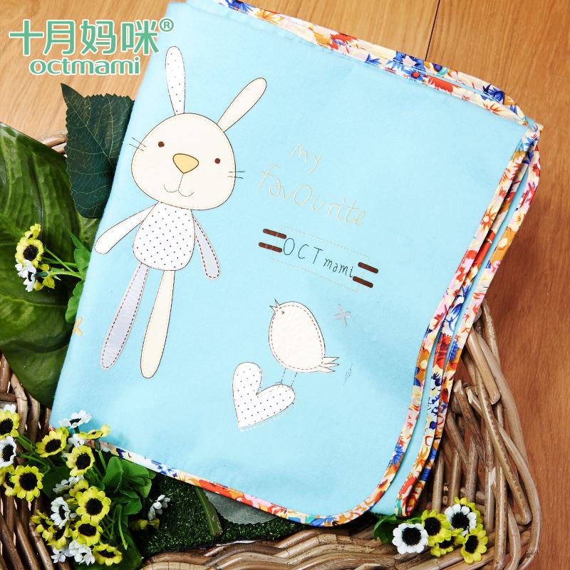十月媽咪寶寶隔尿墊印花防水新生兒用品純棉嬰兒床墊透氣防漏