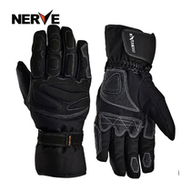 Nerve waterproof and cold motorcycle gloves winter warm thickening windproof riding Knight racing locomotive men and women