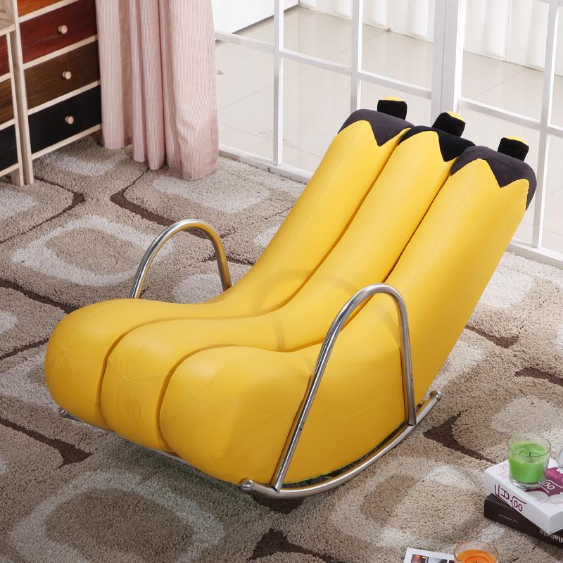 创意单人懒人沙发香蕉躺椅摇椅摇摇椅个性可爱欧式现代小户型沙发满163元可用5元优惠券