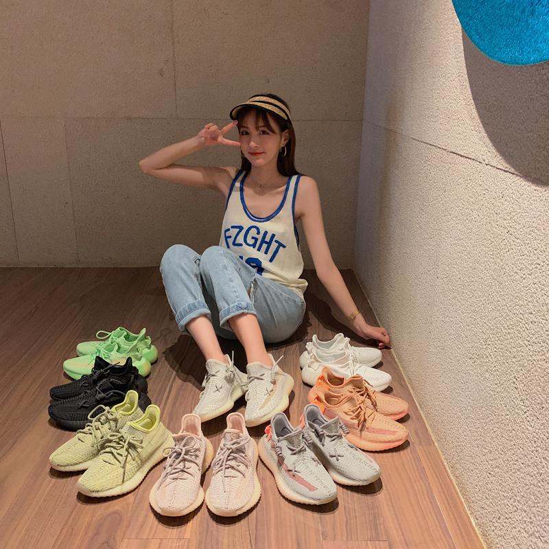 【鞋夫人】系带跑步鞋子网红透气网面运动鞋女ins百搭情侣休闲鞋11-09新券