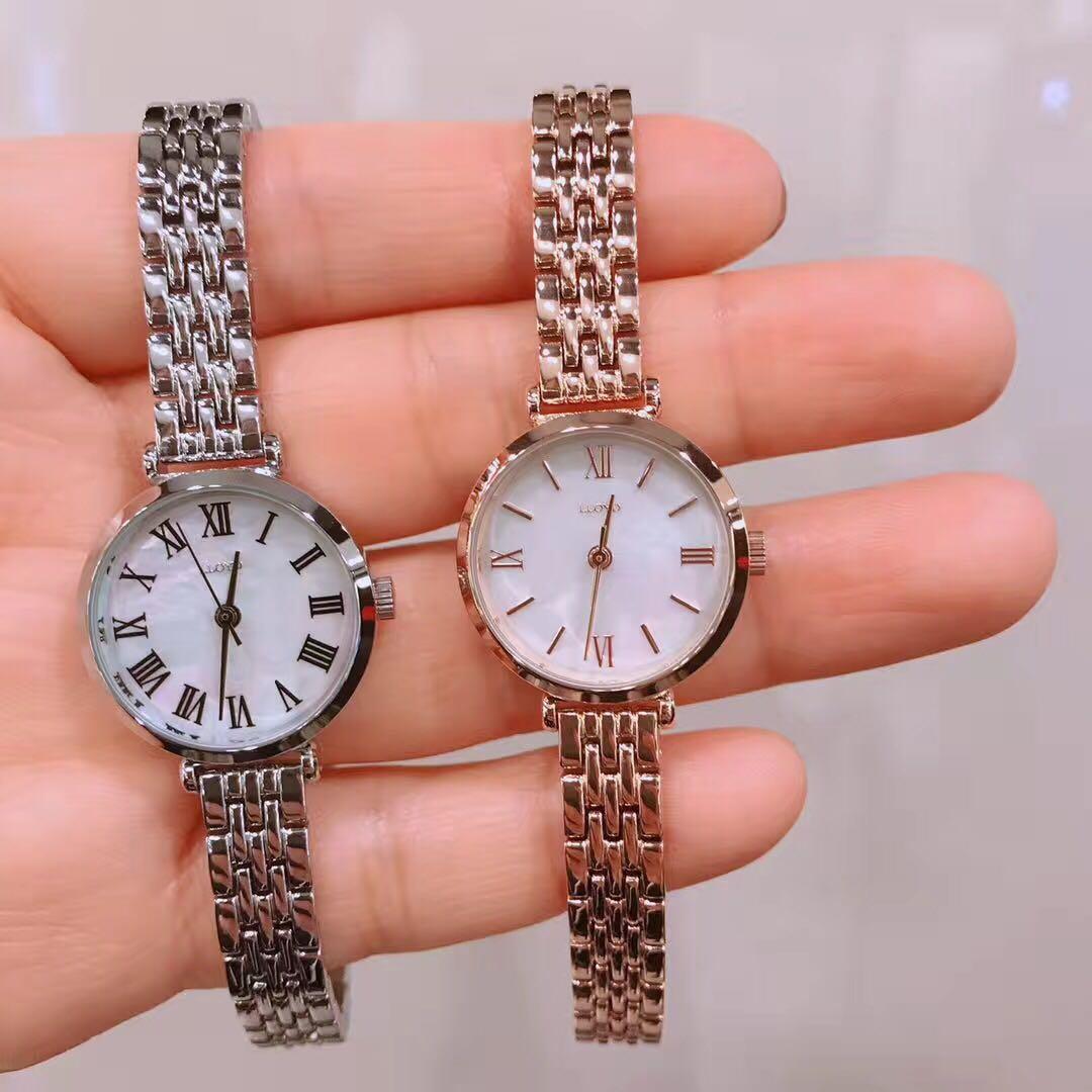 韩国正品专柜代购LLOYD 新款 钢链圆形手表复古简约时尚女表