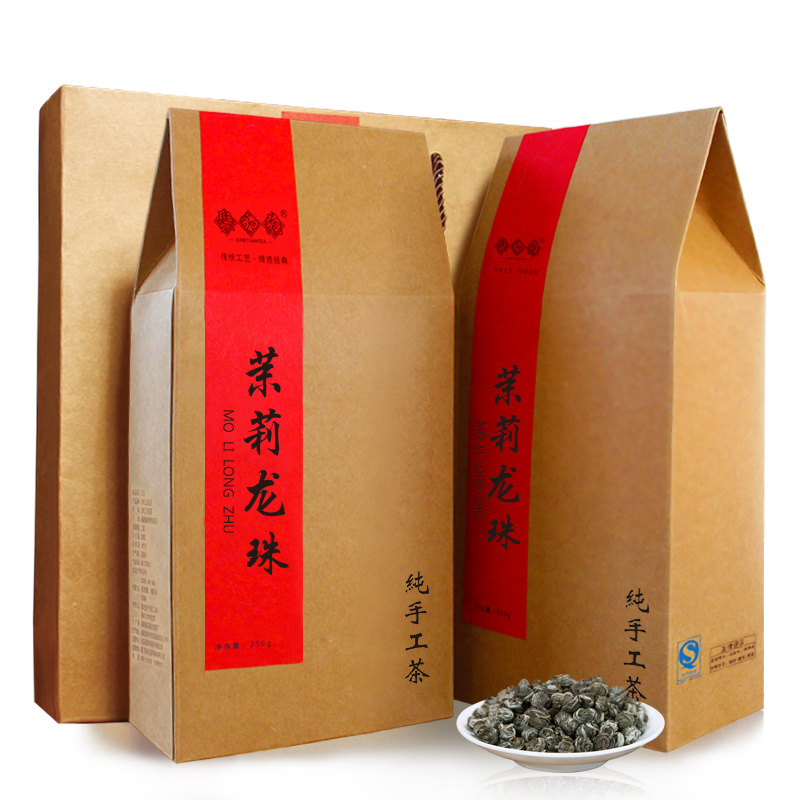 Jasmine tea in bulk jasmine tea with strong fragrance Jasmine Dragon Ball gift box in bulk 500g
