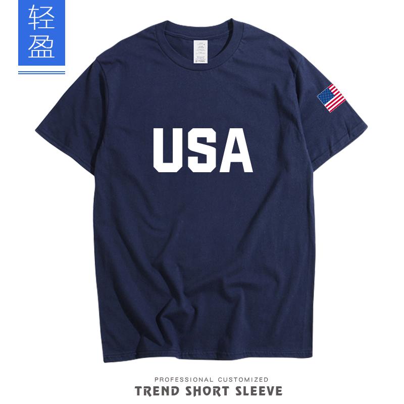美国男篮国家队迷你训练营杜兰特USA篮球短袖T恤球衣队服哈登保罗