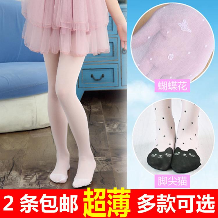 Девочки чулки тонкий летний ребенок колготки анти - крюк провод воздухопроницаемый ребенок рейтузы белые носки танцы носки