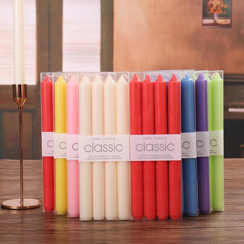 正品Classic/经典欧式蜡烛 无烟无味长杆蜡烛 浪漫婚庆西餐 杆蜡