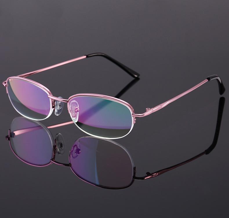 28A厂家直供新款女士高档老花镜金属半框年轻态阅读镜可配眼镜盒