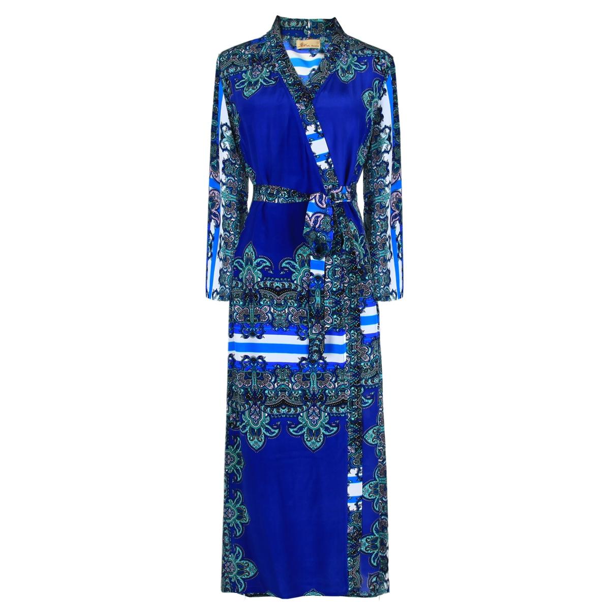 绽放你的美丽~春季新款时髦通勤印花真丝03双绉裹身裙女装