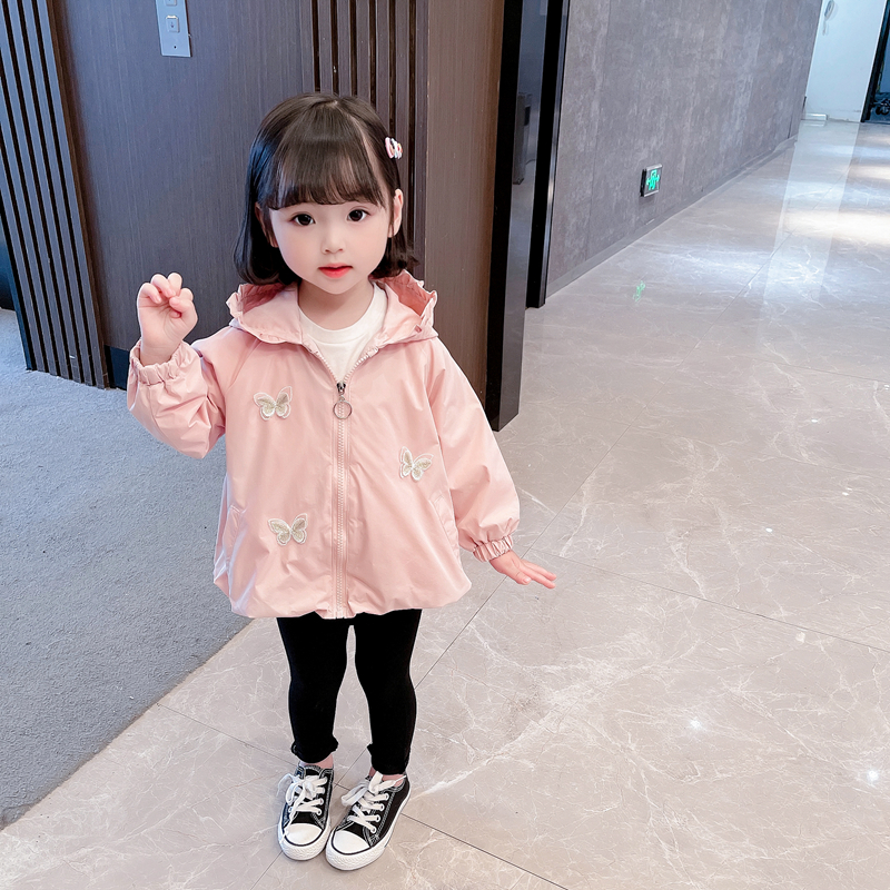 [childrens autumn style] 21 new fashion childrens wear womens zipper spring and autumn hooded animal pattern casual Hoodie