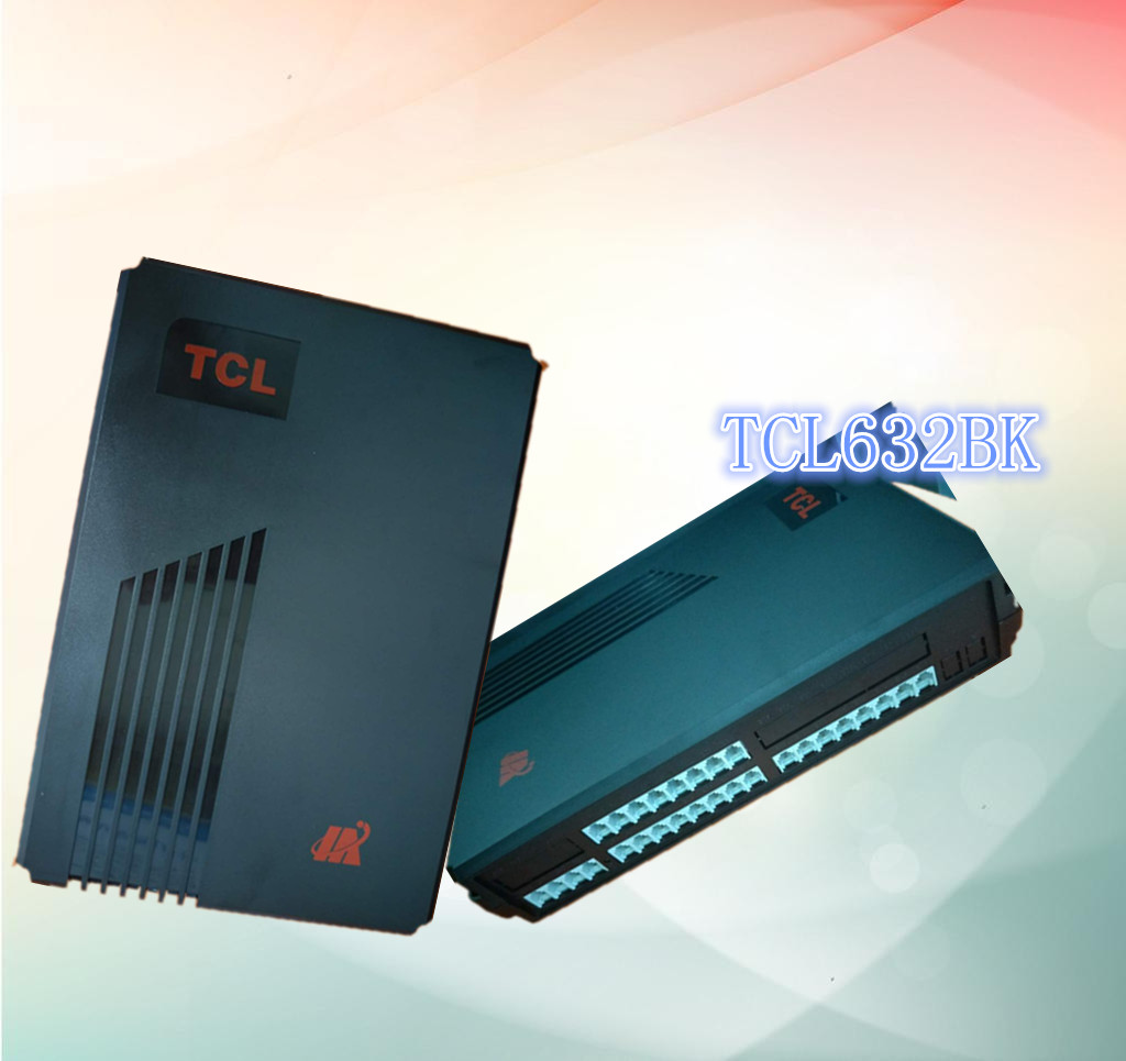 Authentic tcl-632bk group telephone exchange 4 external line 24 extension dragging 4 in and 24 out for secondary display