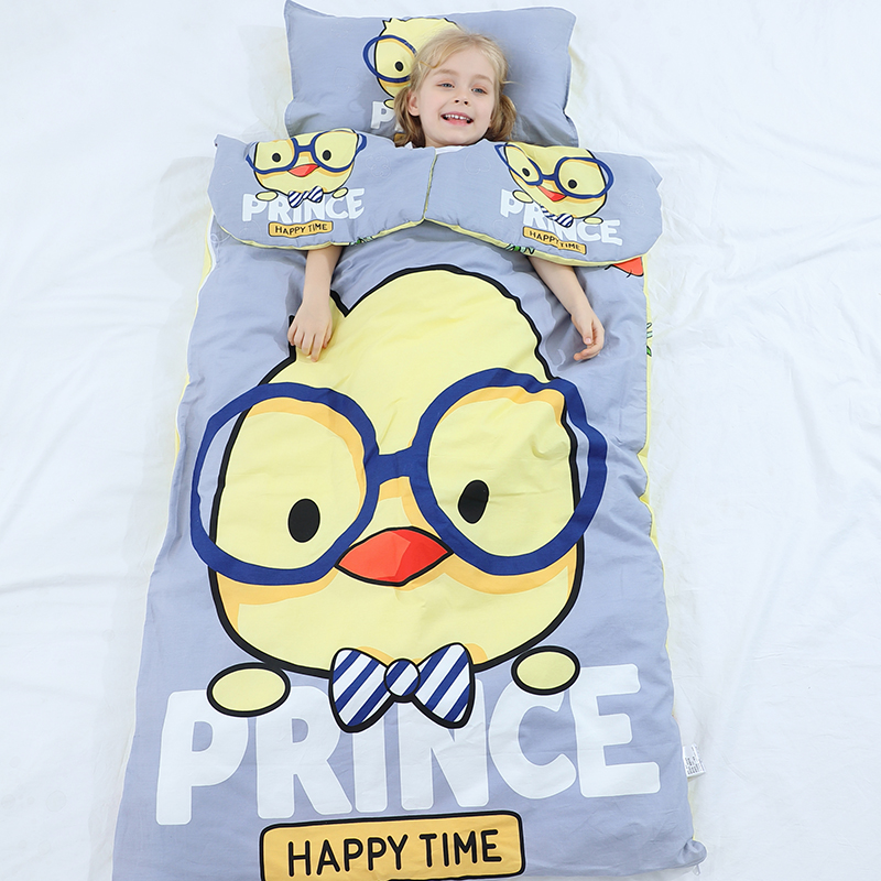 Baby sleeping bag baby pure cotton middle and large children anti kicking quilt spring and autumn winter thickened thin type for all seasons