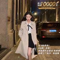 梅子熟了时尚风衣外套女休闲百搭中长款大衣2021秋季新款现货