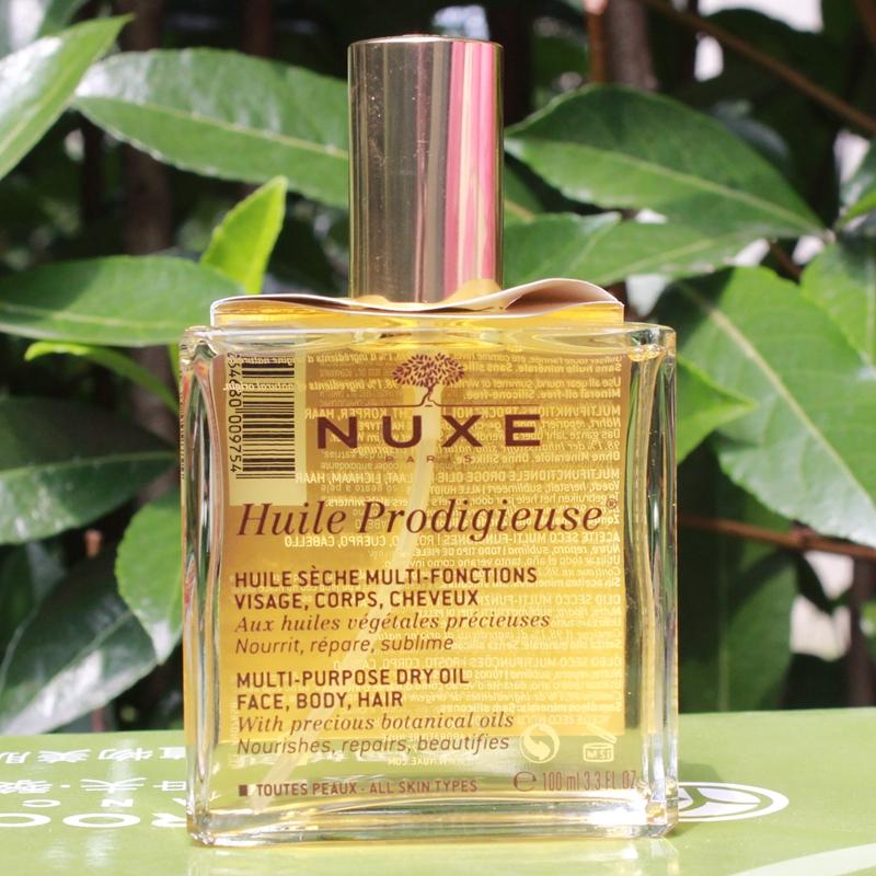 法国Nuxe欧树神奇护理油100ml 全效保养精油 面部身体 护发小金瓶