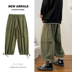 美式新款工装束脚裤 男女同款直筒工装裤K7088p65控78