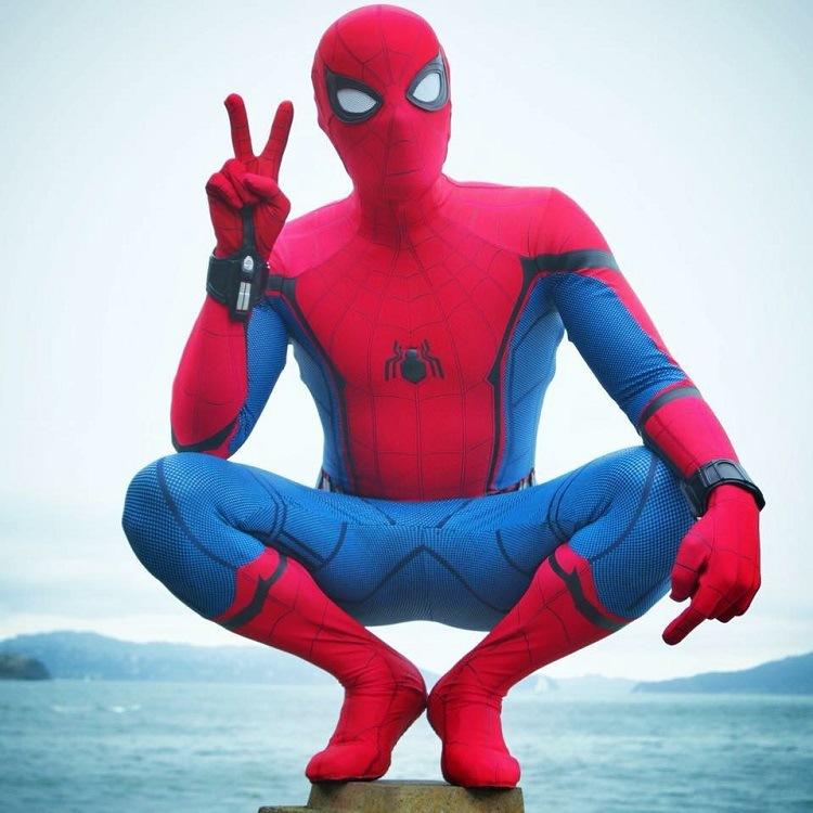2021新型英雄遠征ヒーロー帰りスパイダーマン弾力ライカタイトCosplay連体服