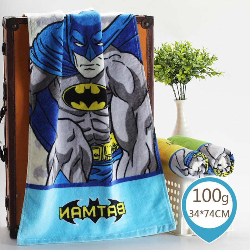 孚日洁玉纯棉毛巾华纳蝙蝠侠可爱卡通加大加厚成人儿童家用洗脸巾