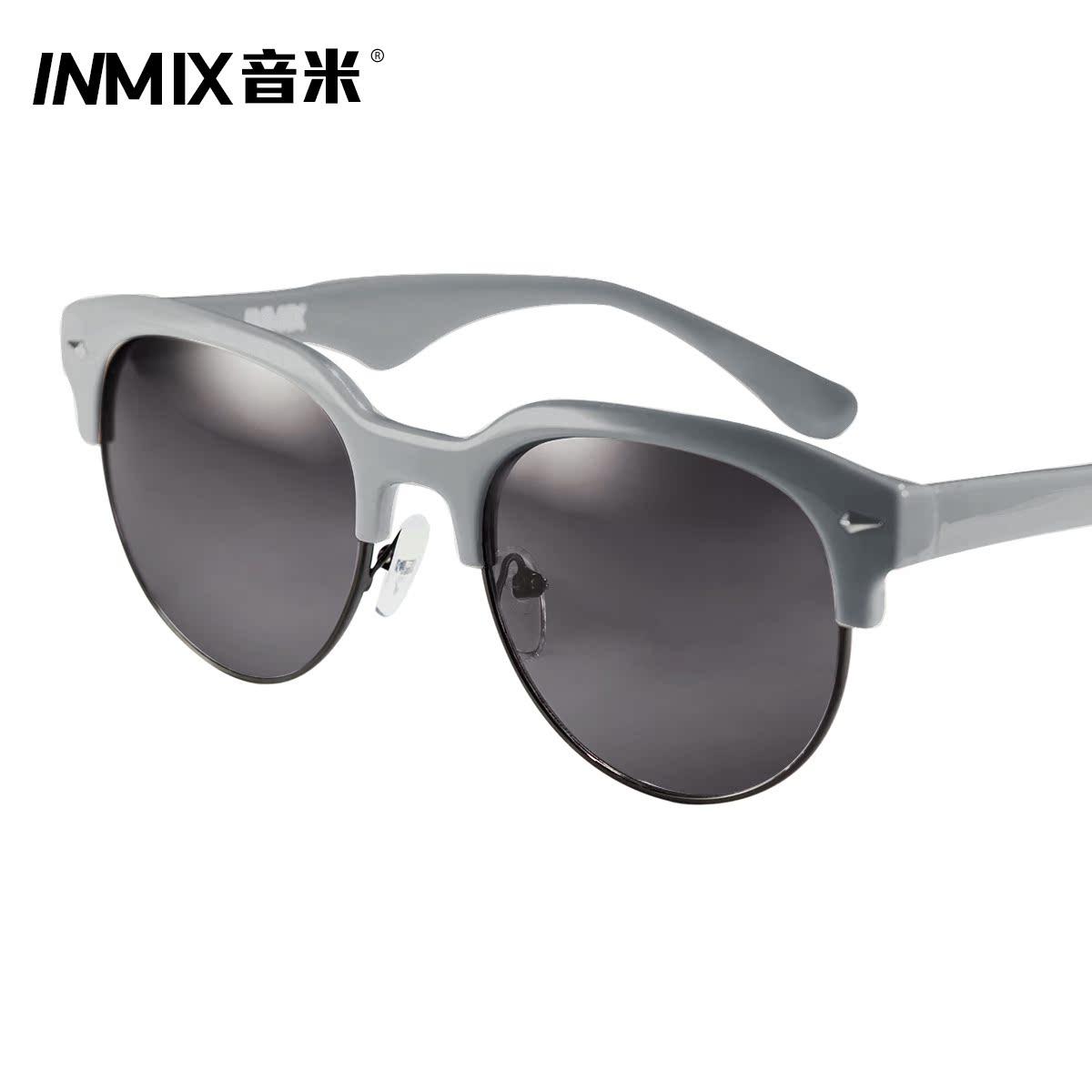 b5baa70206 inmix sound meter circular retro sunglasses UV glasses influx of men drove  half a round frame