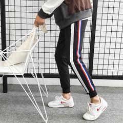 193-K91-35新品日系男小脚裤织带束脚休闲裤长裤 港风