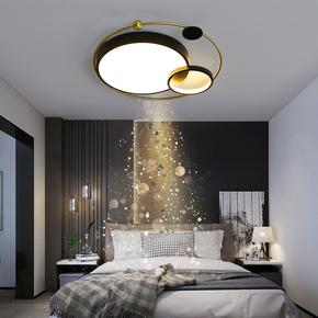 主卧室吸顶灯led灯具温馨浪漫圆形房间灯创意个性现代简约餐厅灯