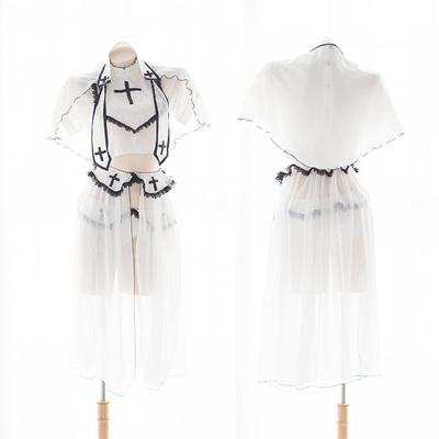 七了个三 纯白修女cos节日服装情趣制服清纯可爱软萌内衣套装