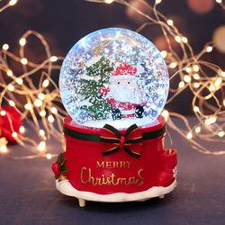 圣诞节礼品八音盒树老人雪花水晶球闺蜜音乐盒生日礼物女生平安夜