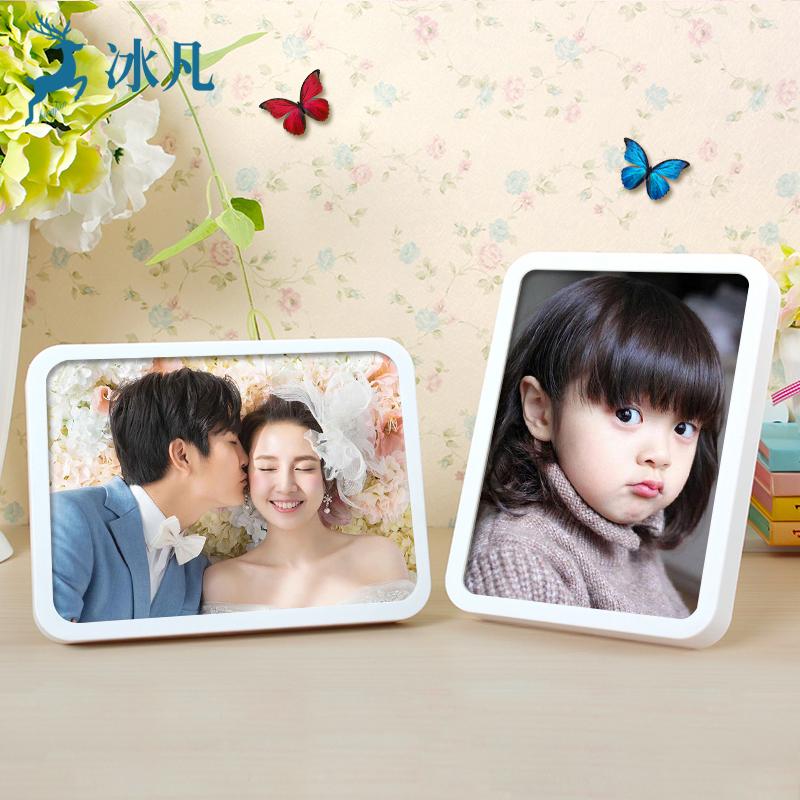 相框摆台挂墙创意7寸10十七寸像框儿童韩式影楼照片框相片框相架限4000张券