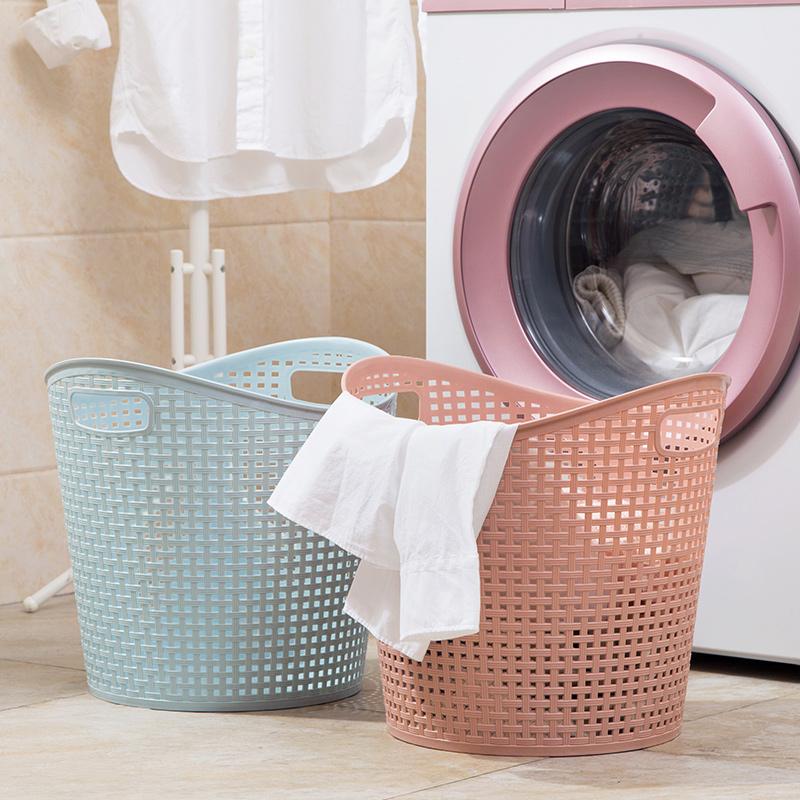 居家家大�塑料�K衣�@浴室洗衣�@客�d玩具衣物收�{�@�K衣服收�{筐
