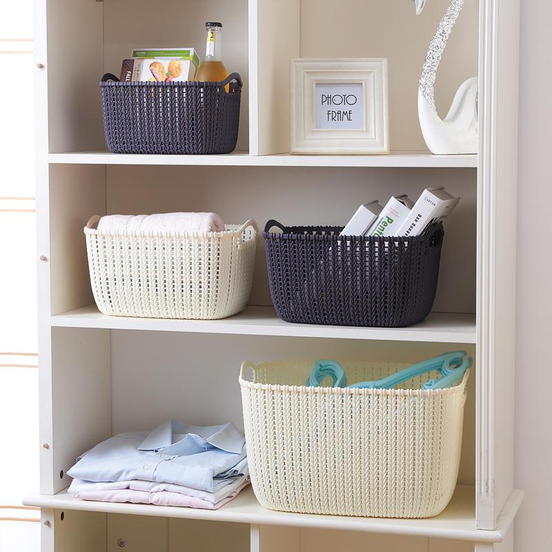 Домой домой копия ротанг рабочий стол хранение корзина пластик пирсинг хранение корзина кухня нулю еда в коробку ванная комната купаться корзина