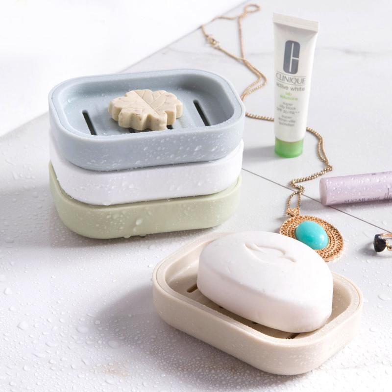 Домой домой двойной пояс крышка туалетное мыло коробка ванная комната дренажный мыло коробка творческий путешествие портативный мыло уход мыло полка