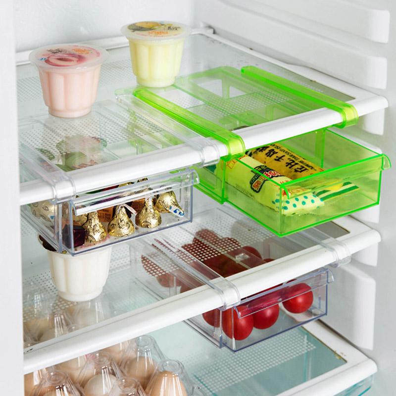 居家家冰箱隔板層收納架廚房用品用具保鮮掛架多用收納架子置物架
