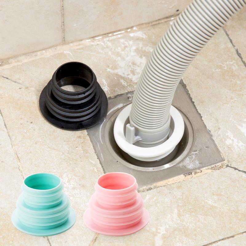 居家家 下水管道密封圈洗衣機排水管地漏蓋 衛生間水管防臭密封圈