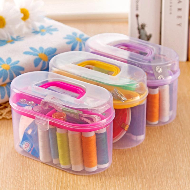 Домой домой рукоделие коробка рукоделие пакет 10 наборы домой шить заполнить инструмент шить рукоделие установите шить линия в коробку
