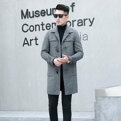 秋冬新款男士毛呢大衣中长款双面羊绒风衣外套 货号Z1912 P440