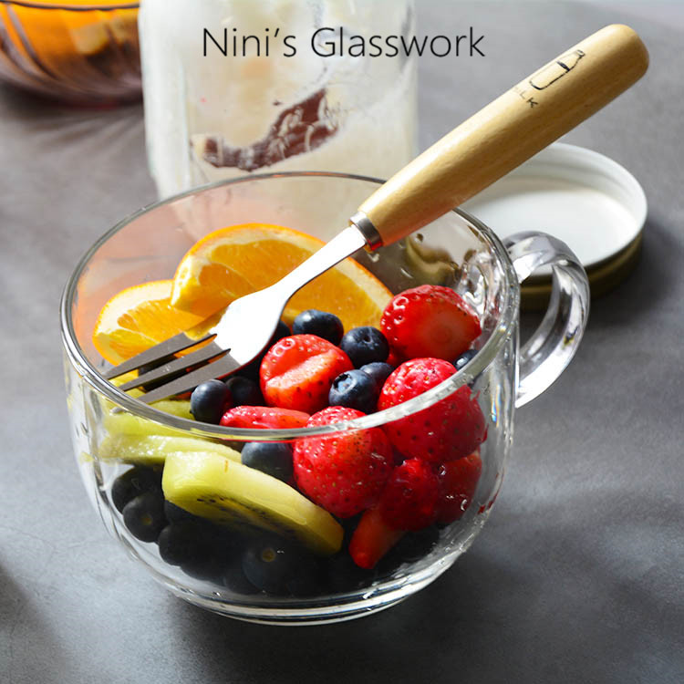 微波炉用牛奶杯麦片杯耐热玻璃水杯开水泡茶杯