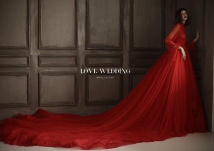 热烈火红婚纱礼服新加坡设计北京实体店现货