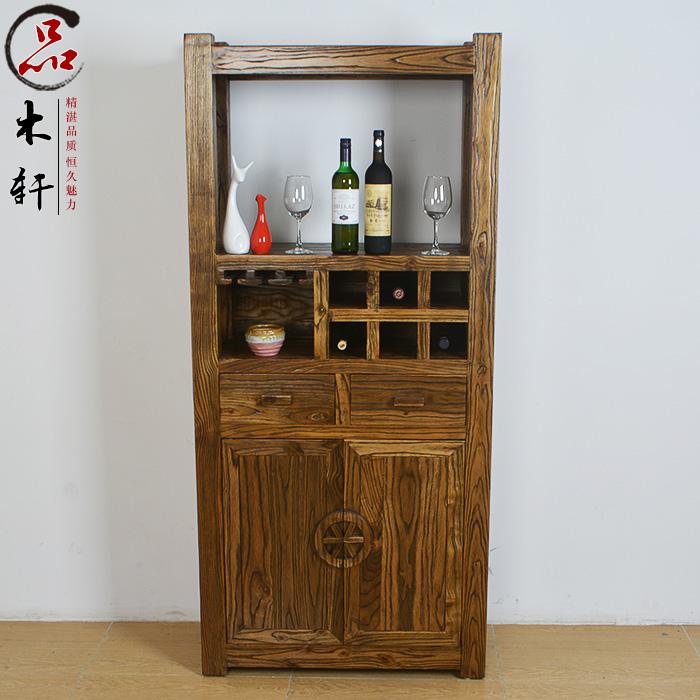 [老榆木酒柜乡村田园实木储物柜茶水柜中式] копия [古酒架厨房餐边置物架]