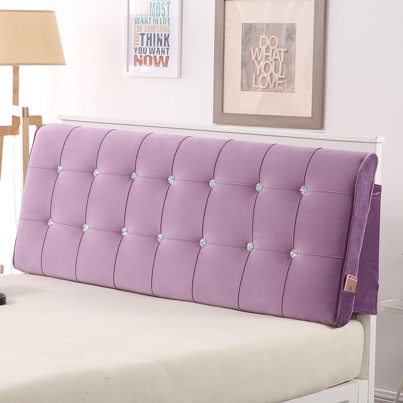 Можно настроить сгущаться прикроватный мягкий чехол подушка спинка кора / ткань диван подушка татами кровати покрытия крышка
