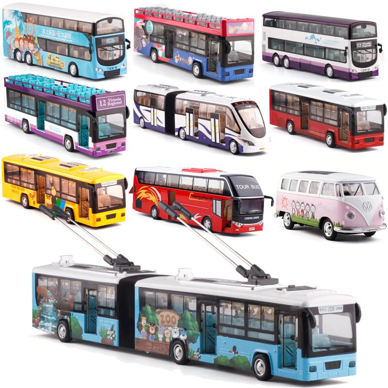 彩珀金�俜抡娲蟊�T1巴士校巴大巴中巴公交�p���小汽�模型玩具