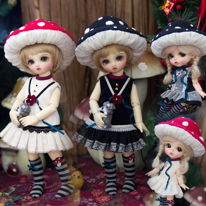Amors new dress 6:8 lati size BJD baby clothes yosd suit SD girl baby clothes mushroom in stock