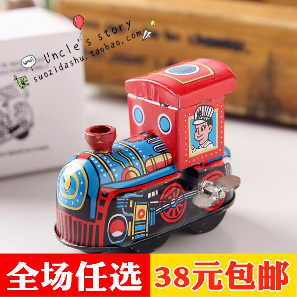 Железный лист маленький поезд глава 54g 80 после воспоминания игрушка детство ребенок время память на аккорд заводной игрушка железный лист игрушка