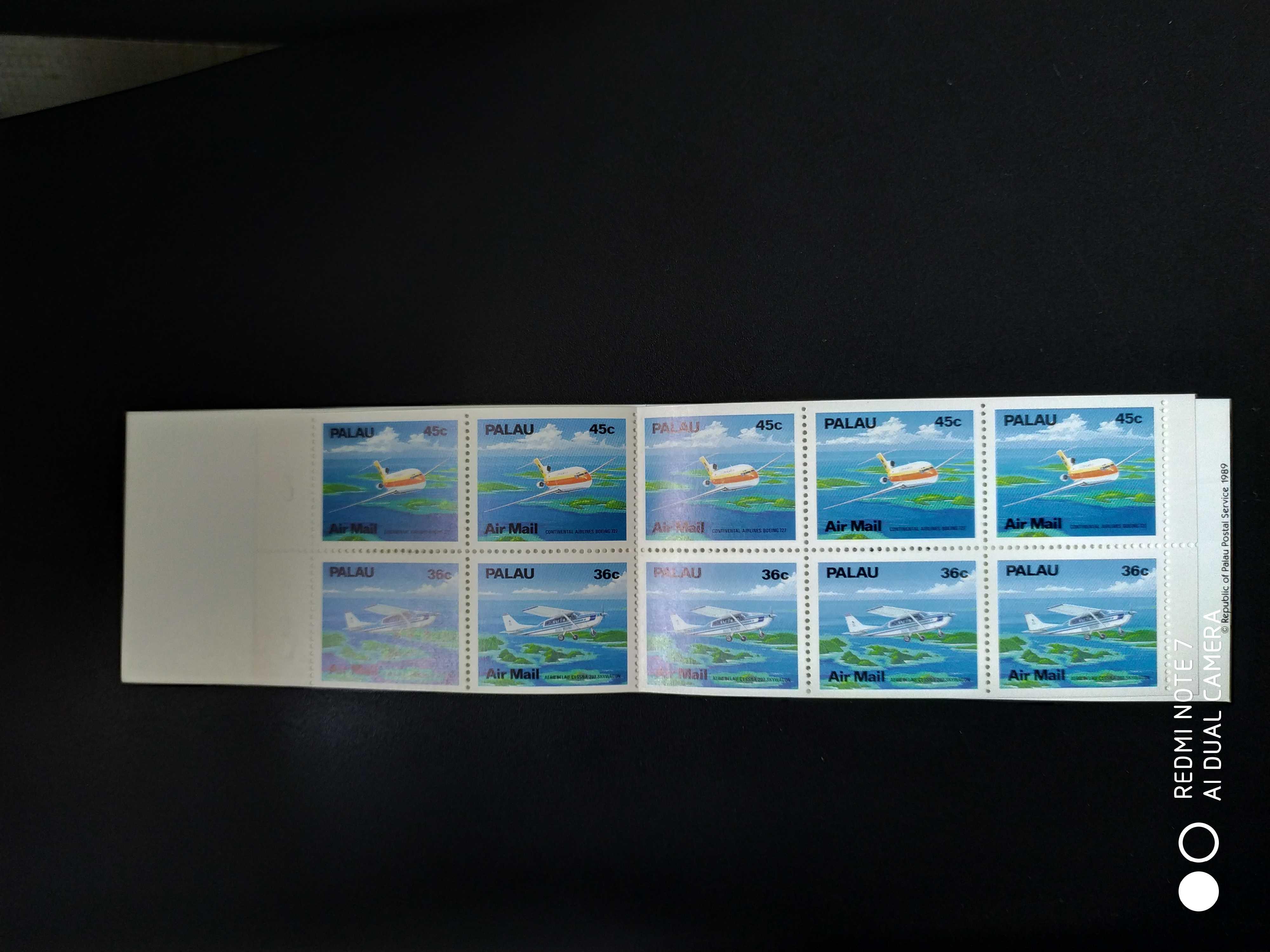 帕劳 1989年飞机邮票小本票1新