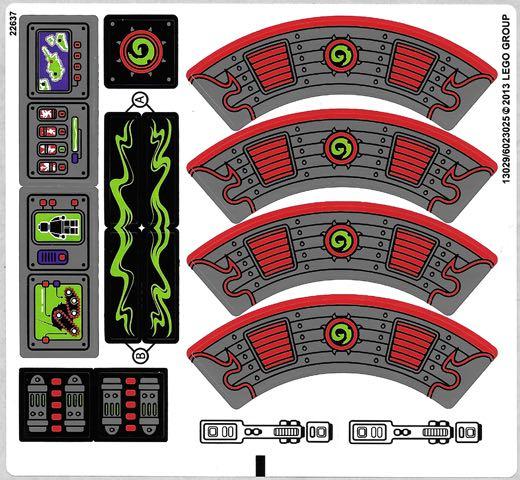乐高Lego 幻影忍者 70504 加满特隆战车原装贴纸 益智积木玩具moc
