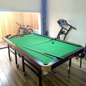 剑客优品标准仿红木210成人训练台球桌180家用折叠160儿童台
