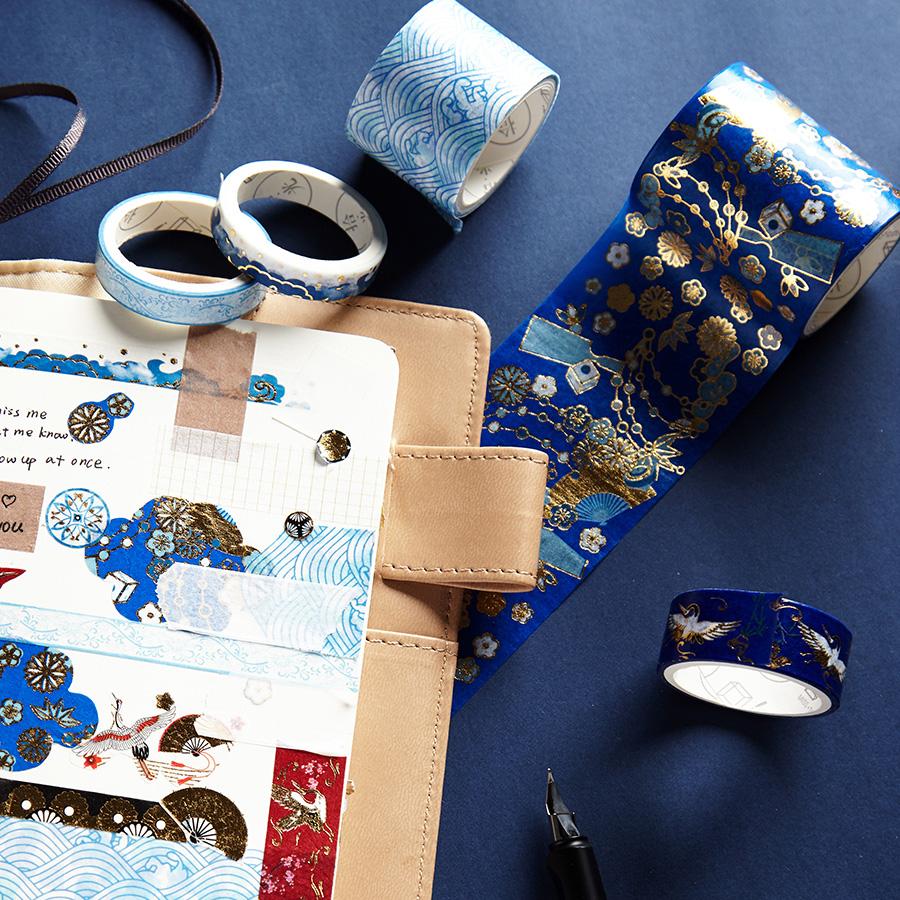 11-05新券故宫风烫金5卷套装ins和纸胶带