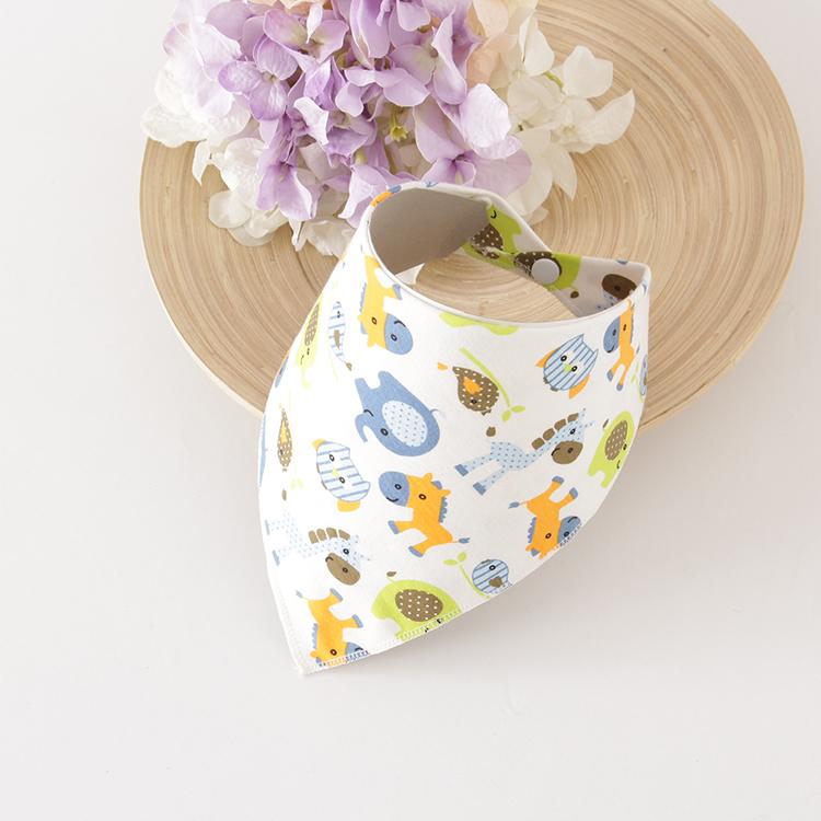 宝宝口水巾婴儿童三角巾棉加厚双层按扣新婴儿用品围嘴围巾春夏秋
