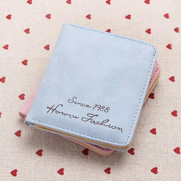短款钱包女新款钱夹薄韩版钱包女式卡位小清新拉链折叠零钱包